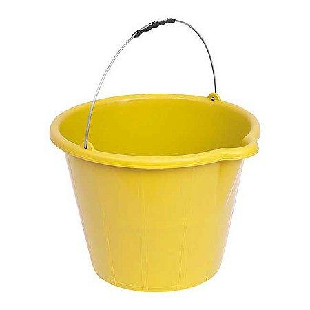 Balde Plástico Amarelo 12 lts c/ Pegador Tsw-408