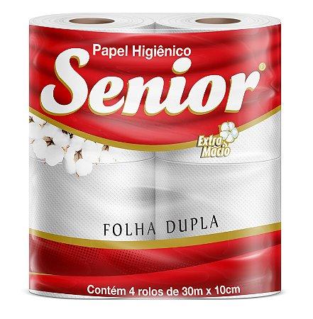 Papel higiênico f.dupla pct 04x30mt - Senior