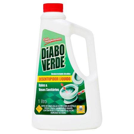 Desentupidor De Pias E Ralos Diabo Verde - 1 Litro