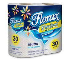 Papel higiênico 04x30m florax neutro