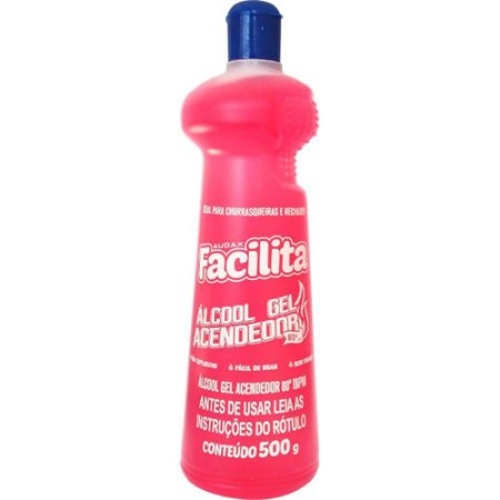 ALCOOL GEL 80° 500ML ACENDEDOR - FACILITA