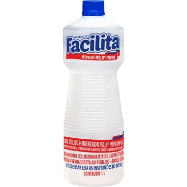 ÁLCOOL LIQUIDO 92° 01LT FACILITA - AUDAX