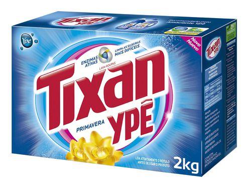 Sabão em pó 2kg primavera -tixan
