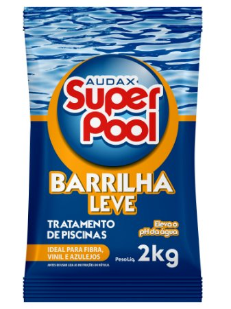 BARRILHA LEVE ELEVADOR  PH  PISCINAS 2KG -SUPER POOL