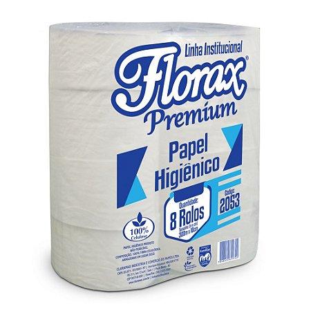 Papel higiênico Rolão 8x300m Florax Premium 2053