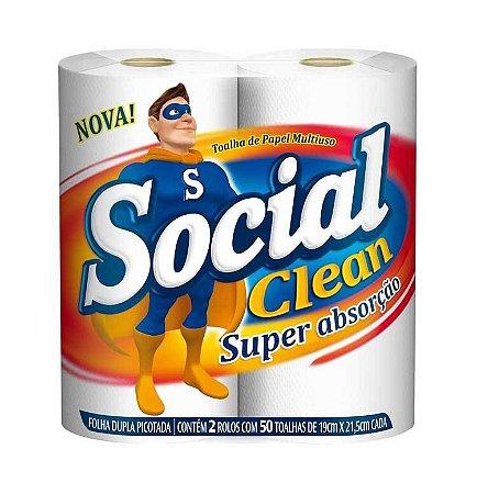 Papel toalha Multiuso coz. Pct 02x50  f.dupla -social