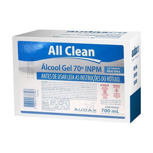 Álcool gel 70°  700ml refil  all clean - Audax