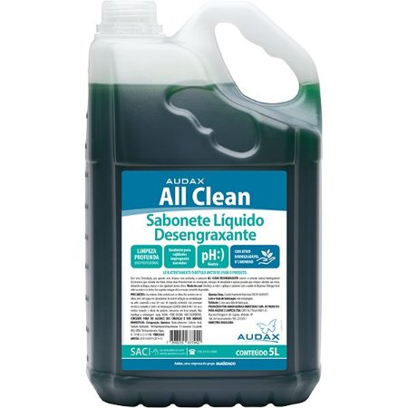 SABONETE DESENGRAXANTE 05LT  ALL CLEAN - AUDAX