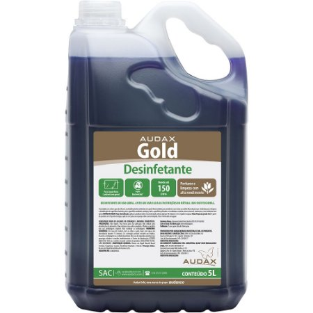 Desinfetante gold 05lt conc 1/30 pinho fresh - Audax