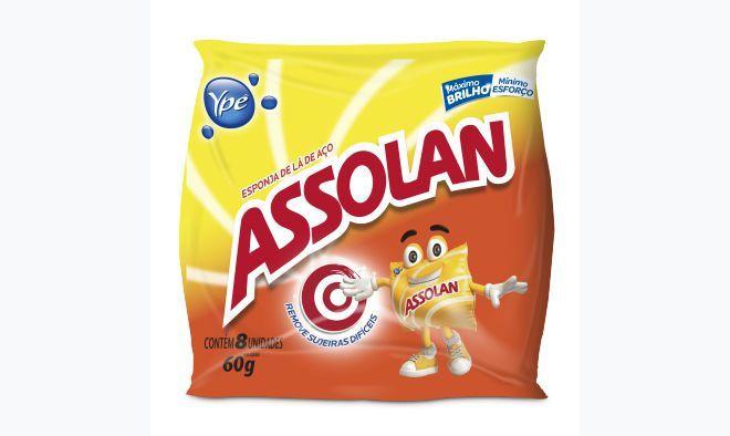 Esponja de aco assolan pct c/14 sacos de 8 esponjas cada