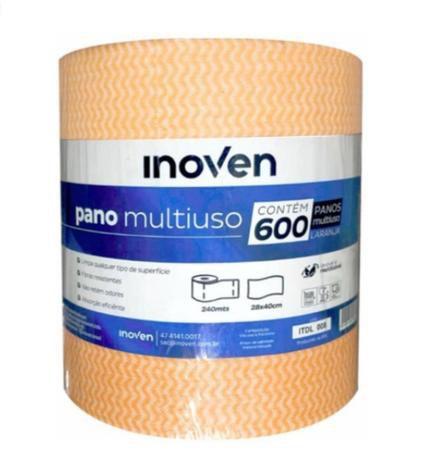 Rolo pano Multiuso cor laranja 28cmx40cm (600 panos) - Inoven