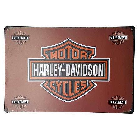 Placa de Metal Decorativa Harley Davidson