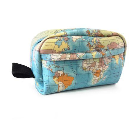 Necessaire Viagem Mapa Mundi