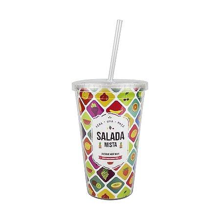 Copo Canudo Salada Mista