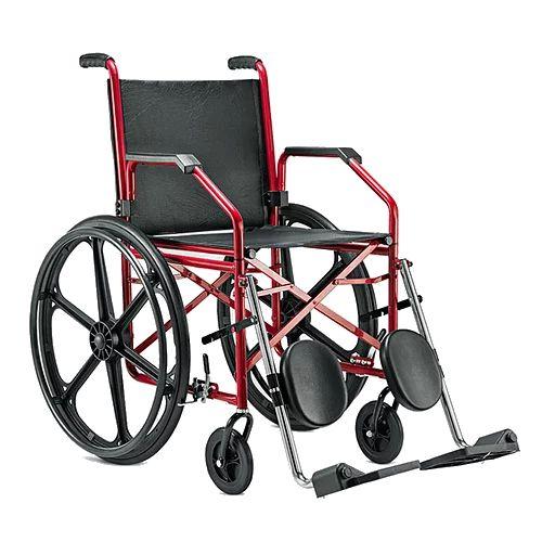 Cadeira de rodas 1012 c/ Elevação Vinho 45cm - JAGUARIBE
