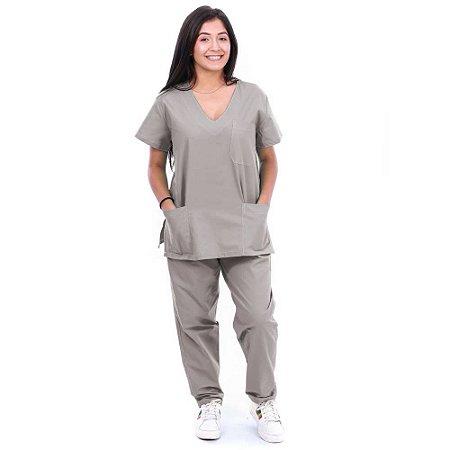Pijama Cirurgico Unissex Cinza