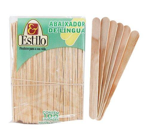 ABAIXADOR DE LINGUA ESTILO C/100