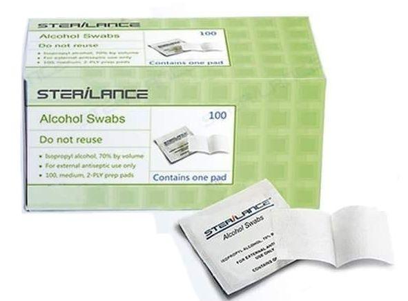 ALCOOL SWAB - GAZE IMPREGNADA 30X60MM CX/100 STERILANCE