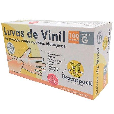 Luva Vinyl S/Talco G DESCARPACK