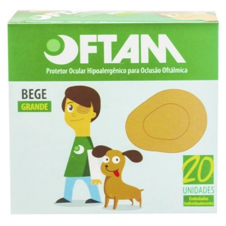 Protetor Oftalmico Oftam Grande Caixa C/ 20 unidades