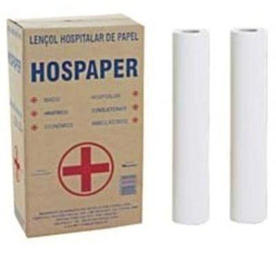Papel Lençol 50cm X 50 Mts C/ 02 Rolos - HOSPAPER