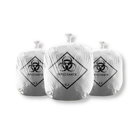 Saco de Lixo Infectante Hospitalar 100L 75X105cm C/ 100 Unidades