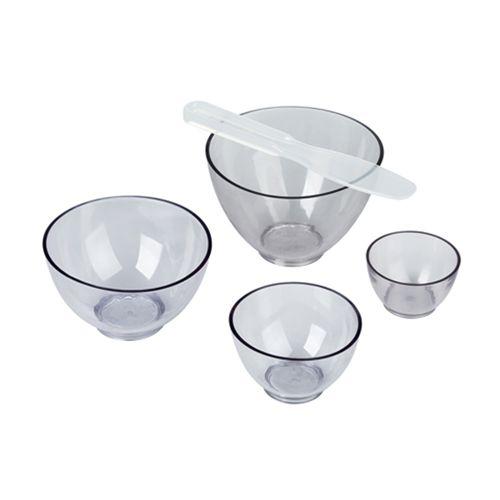 Kit  Cubeta Plastica e Flexivel c/ Espátula Transparente