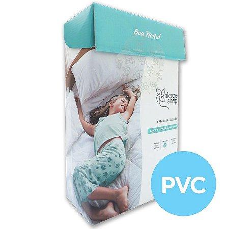 Capa de colchão solteiro King PVC - Alergoshop