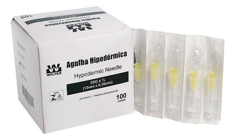 Agulha HiPodérmica 13x,030 Mm Caixa Com 100 Und Wiltex