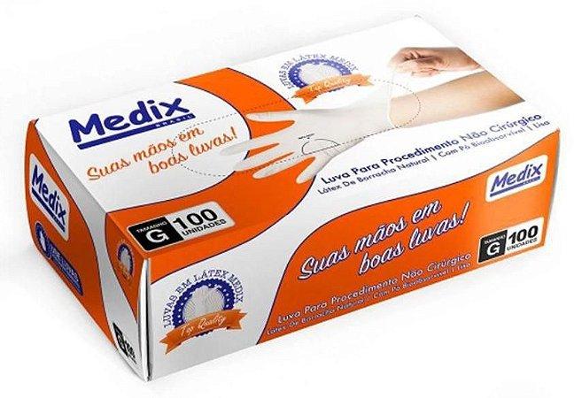Luva de procedimento látex c/100 unidades - Medix