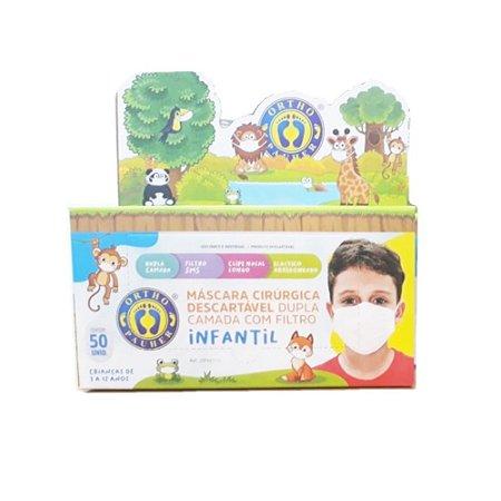 Máscara Com Elástico Infantil Com 50 unidades - ORTHOPAUHER
