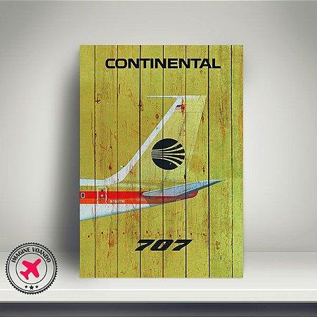 Quadro Aviação Vintage B707 Continental