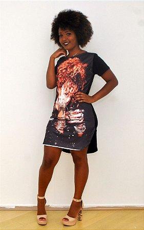vestido estampa sereia estampa Rihanna