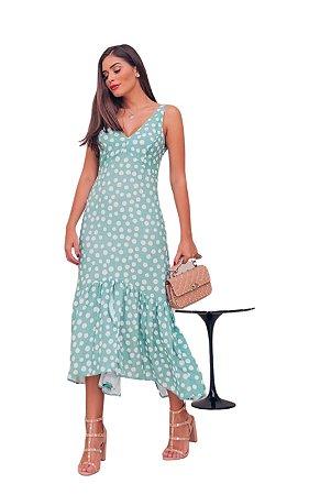 Vestido Maya ALÇA Poa Mint