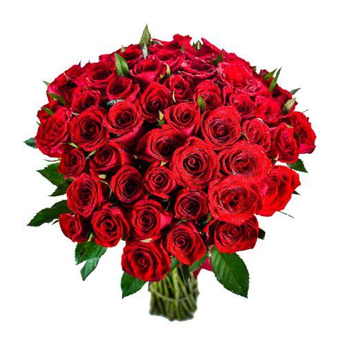 Buquê 60 Rosas Vermelhas