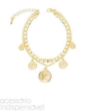 Pulseira Medal Gypsy Dourada