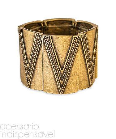 Bracelete Boho Malik Étnico Ouro Velho