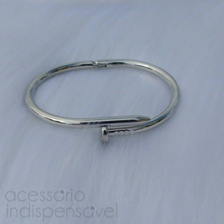 Bracelete Prego Prateado