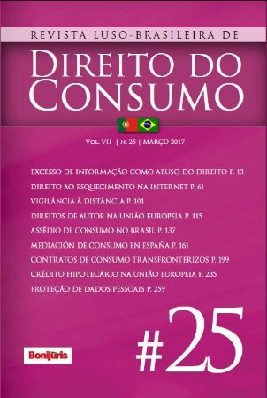 Revista Luso-Brasileira de Direito do Consumo - Avulsa