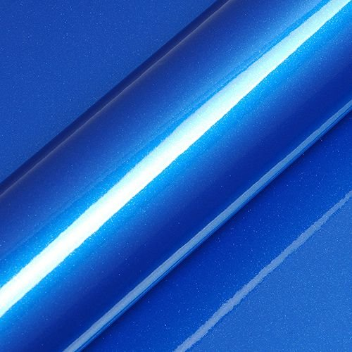 "Adesivo para Envelopamento Automotivo Alto Brilho Glitter Cor ""Apollo Blue Gloss"" Kit Carro Completo"