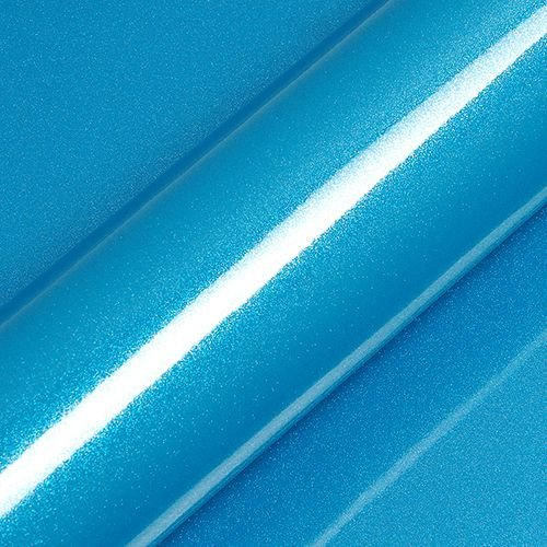 "Adesivo para Envelopamento Automotivo Alto Brilho Glitter Cor ""Fjord Bleu Gloss"" Kit Carro Completo"