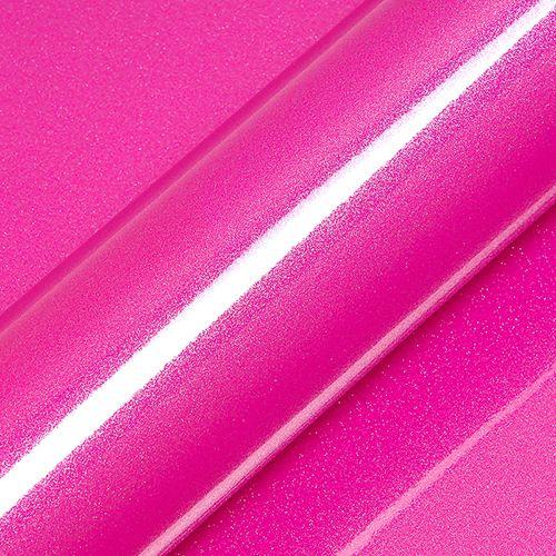 "Adesivo para Envelopamento Automotivo Alto Brilho Glitter Cor ""Indian Pink Gloss"" Kit Carro Completo"