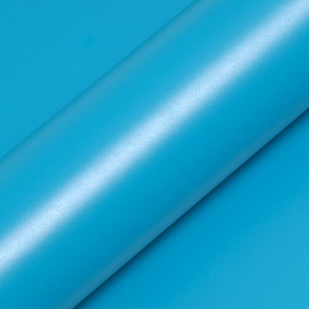 """Adesivo para Envelopamento Automotivo Fosco Cor """"Bleu Tuquoise Mat"""" Carro Completo"""