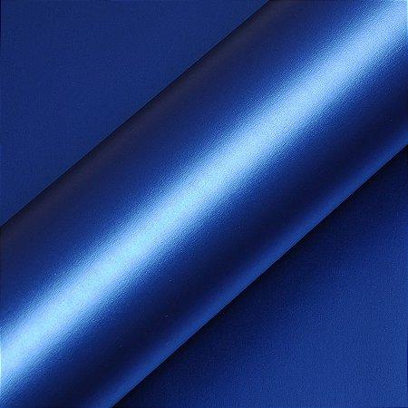 """Adesivo para Envelopamento Automotivo Fosco Cor """"Bleu Nuit Métal Mat"""" Carro Completo"""