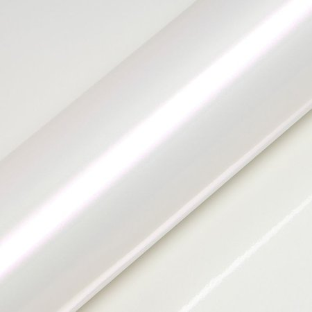 "Adesivo para Envelopamento Automotivo Alto Brilho Pérola Cor ""Pearl White Gloss"" Carro Completo"