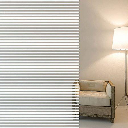 "Película Decorativa para Vidro Residencial ""Mini Blind"""