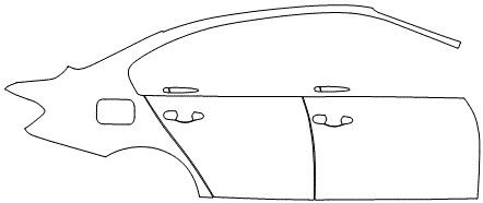 """Película ClearShield de Proteção de Pintura Transparente Super Brilho """"Kit Portas lado Direito/Paralama Direito"""" BMW 320 Ano 2017"""