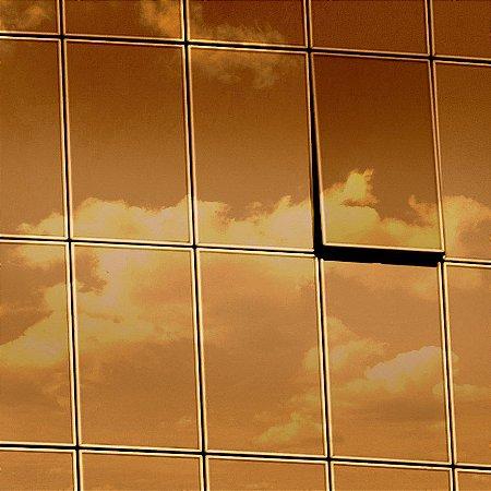 """Película para Vidro Comercial Espelhada de Alta Redução de Calor """"Specchio Bronze Silver"""""""