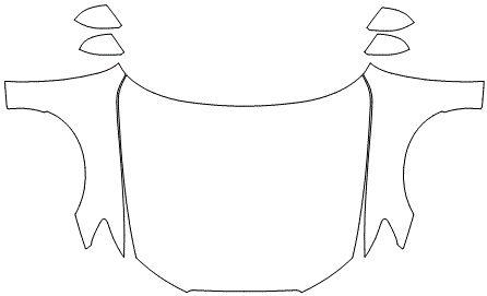 """Película ClearShield de Proteção de Pintura Transparente Super Brilho """"Kit Capô Inteiro/Paralama/Retrovisores"""" Audi RS7 Sportback Ano 2011/2018"""