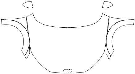 """Película ClearShield de Proteção de Pintura Transparente Super Brilho """"Kit Capô Inteiro/Paralama/Retrovisores"""" Audi TT/S Coupé Ano 2011/2018"""